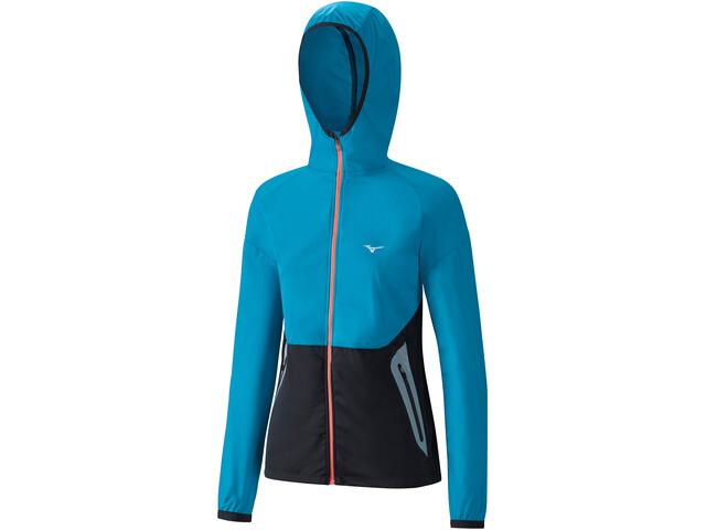 Mizuno Static BT - T-shirt manches longues running Femme - bleu